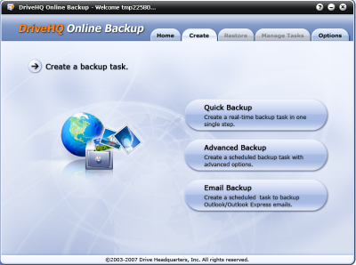 DriveHQ OnlineBackup