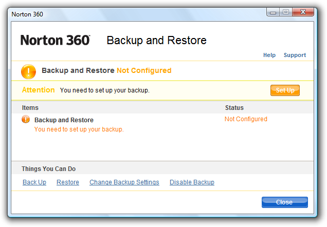 Backup with Symantec Norton 360 | Backup HowTo