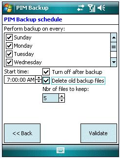 PIM Backup