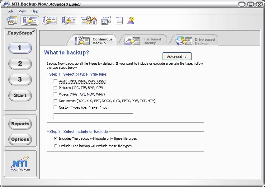 NTI BackupNow for Windows XP/Vista | Backup HowTo