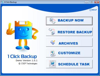 1Click Backup Software