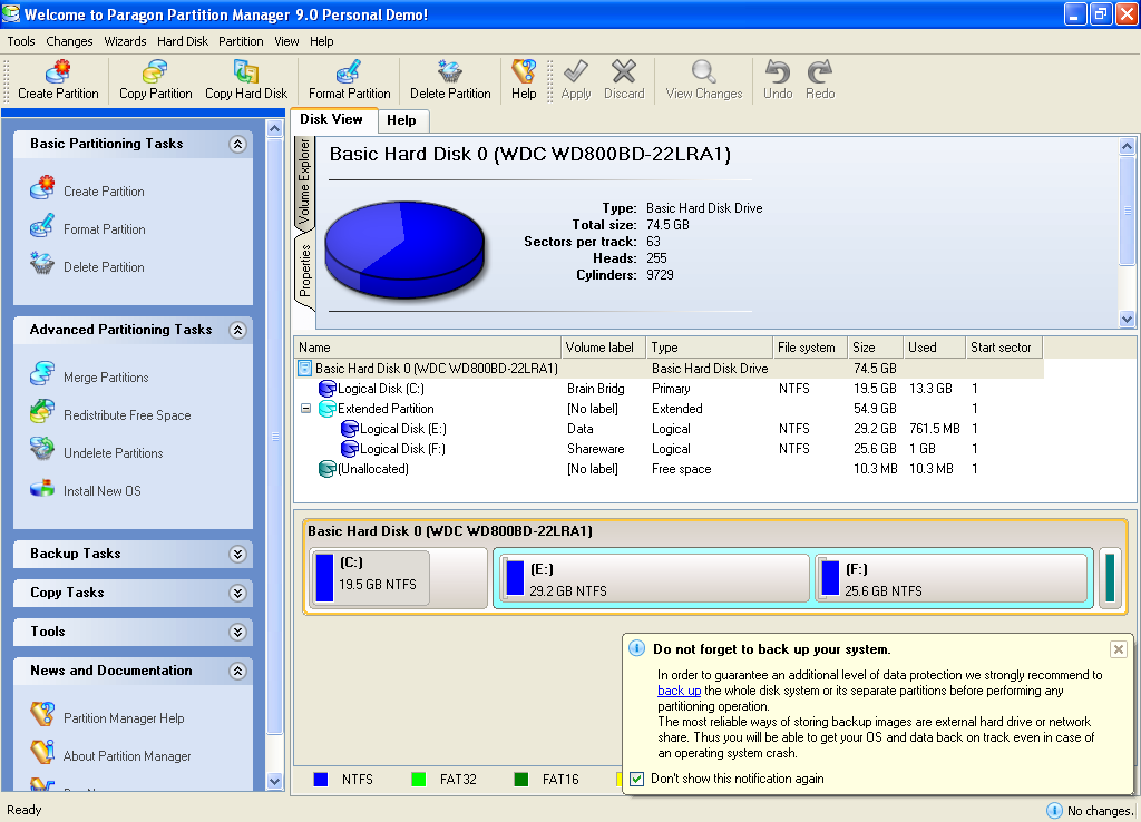 Partition manager 9.0