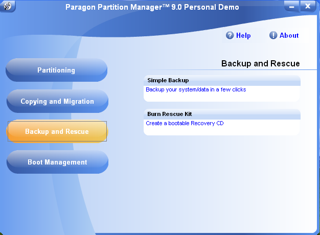 how to use paragon partition manager