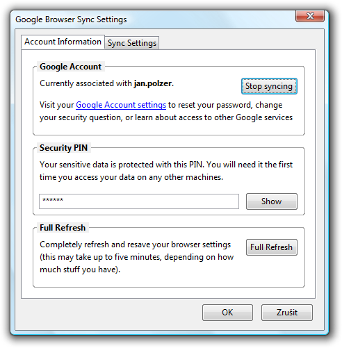 Backup Firefox bookmarks (and more) with Google Browser Sync