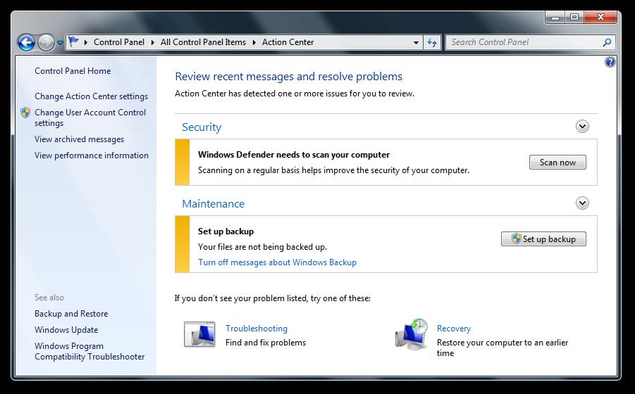 how to run windows 7 image backup