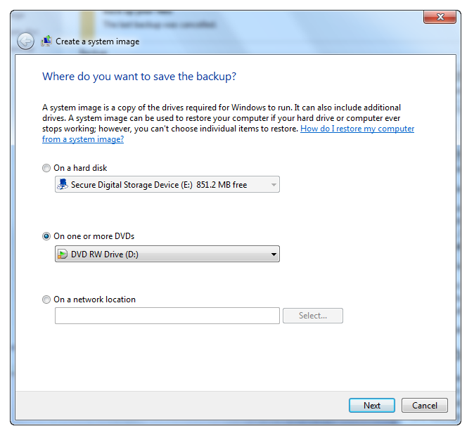 how to create windows backup disk for windows 7
