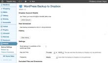 How to backup WordPress website to Dropbox cloud