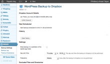 How to backup WordPress website to Dropbox cloud