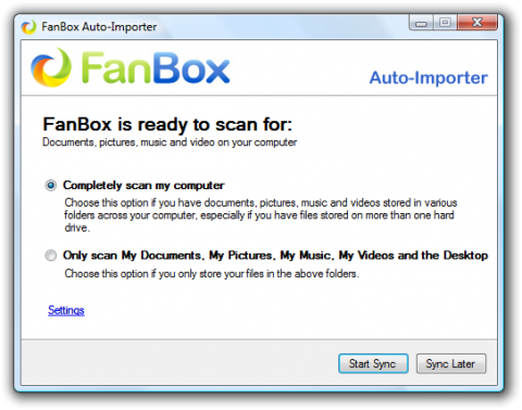 FanBox Auto-Importer tool sync selection