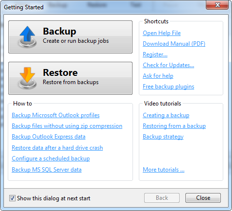 Backup4all Professional 4.3