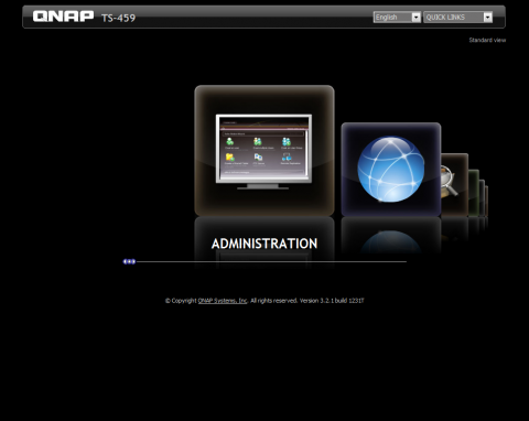 QNAP TurboNAS TS-459 Pro administration