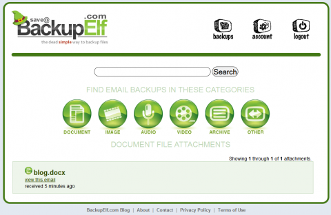 BackupElf.com - easy to use online backup